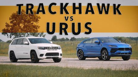 Jeep Trackhawk Vs Lamborghini Urus In Super Suv Drag Race Jeep