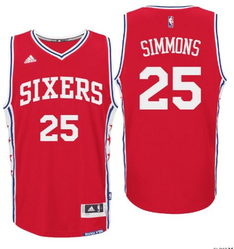 0c2222cf 2016 Draft 76ers #25 Ben Simmons Home Red Swingman Jersey ...