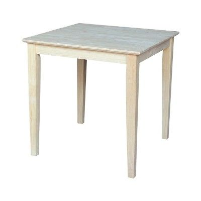 30 Square Solid Wood Tables International Concepts Square