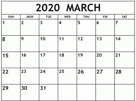 March 2020 Editable Calendar In 2020 June Calendar Printable