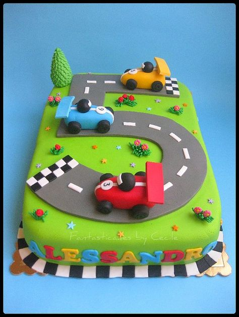 Torta Circuito Auto / Racing Circuit Cake | Last month I bou… | Flickr