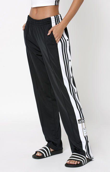 a781371ffa6 Summer Stripes | Clothes | Black adidas pants, Pants, Sweatpants outfit