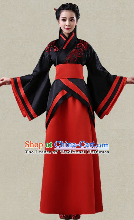 a5ab3198c Hanfu Clothing Custom Traditional Han Dynasty Chinese Hanfu Dreses Han  Clothing Hanzhuang Historical Dress and Accessories Complete Set