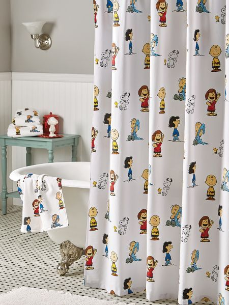 Peanuts Gang Shower Curtain Bathroom Decor Bathroom Themes