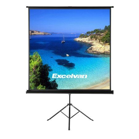 """70/""""x70/"""" 1:1 Portable Projector Screen HD Movies Projection Pull Up Stand Tripod"""