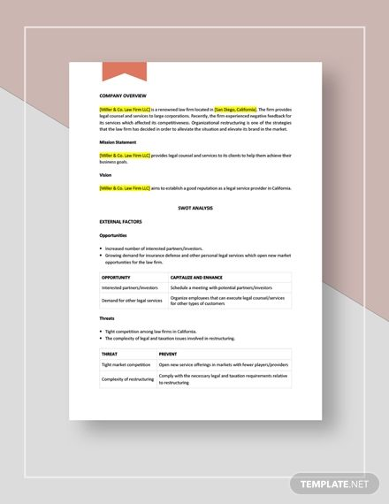 Law Firm Swot Analysis Template Word Doc Apple Mac Pages Google Docs Swot Analysis Template Swot Analysis Newsletter Templates