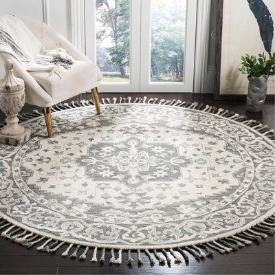 Charlton Home Carman Hand Tufted Wool Gray Area Rug Wayfair In 2020 Grey Area Rug Area Rugs Round Area Rugs