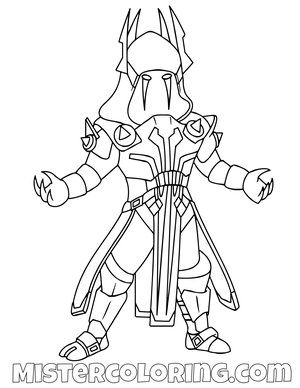 Fortnite Coloring Pages For Kids Mister Coloring In 2020
