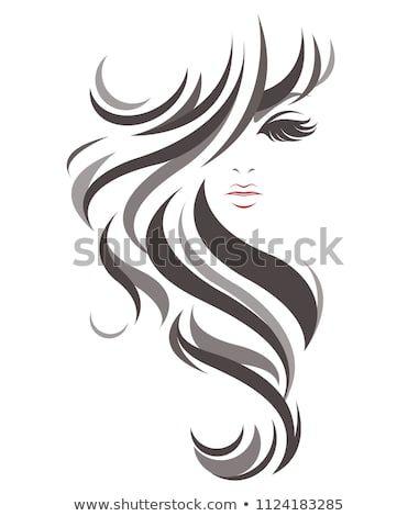 Women Long Hair Style Icon Logo Women On White Background Long Hair Styles Beauty Salon Logo Silhouette Art