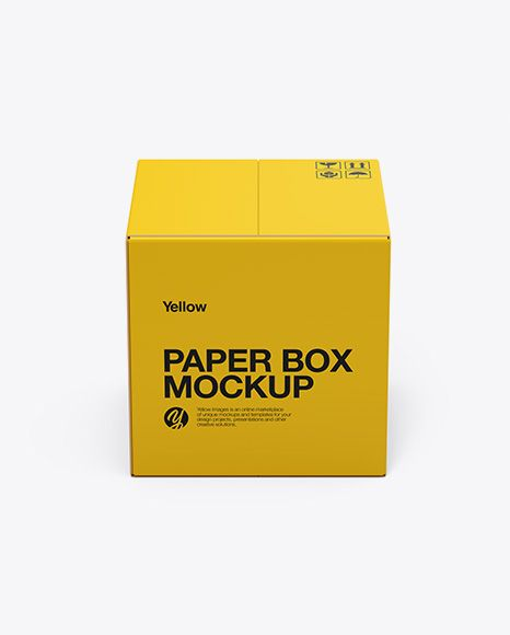 Download Paper Box Mockup Front View High Angle Shot In Box Mockups On Yellow Images Object Mockups Box Mockup Mockup Free Psd Free Psd Mockups Templates