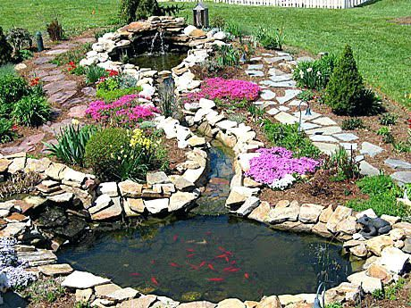 Small Pond Ideas Collection In Backyard Pond Landscaping Ideas