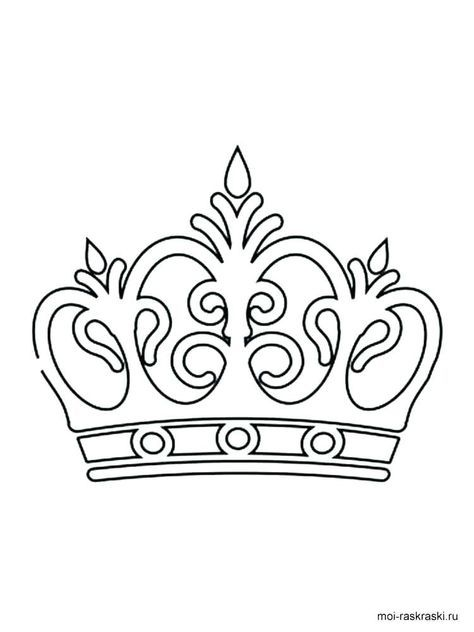 Crown Template Moldes De Coronas Plantilla Corona Paginas Para