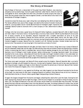 The Story Of Beowulf Gcse Reading Comprehension Text Com Imagens