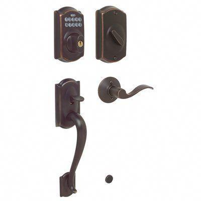 Schlage Electronic Door Lock Camelot Accent Keypad Residential Single Cylinder Electronic Door Handleset Frontdoor Schlage Keyless Door Lock Door Handle Sets