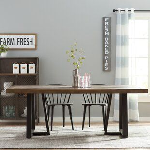 Gracie Oaks Estefania Dining Table Dining Table Dining Table In Kitchen Solid Wood Dining Chairs