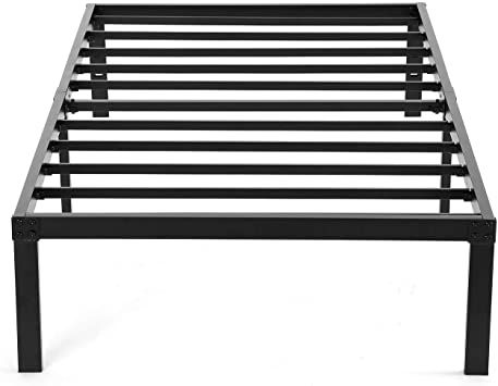 Twin Xl Platform Bed Frame Heavy Duty Noah Megatron Slatted Bed Base 14 Inch Mattress Foundation Bed Frame In 2020 Under Bed Storage Platform Bed Frame Bed Foundation