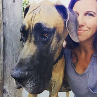 This Is Me With Our Great Dane Captain Rex I M From The East