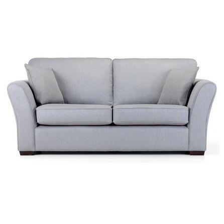 Contemporary sofa Company Comfortable Light Grey Evian 3 Seater Sofa ...
