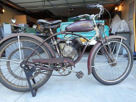 1949 Whizzer J Schwinn Wz507 Bf Goodrich Motorbike
