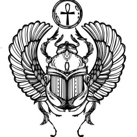 Símbolos Egipcios Y Su Significado Tendencias En Joyería Escarabajo Egipcio Tatuaje Símbolos Egipcios Tatuaje De Egipto