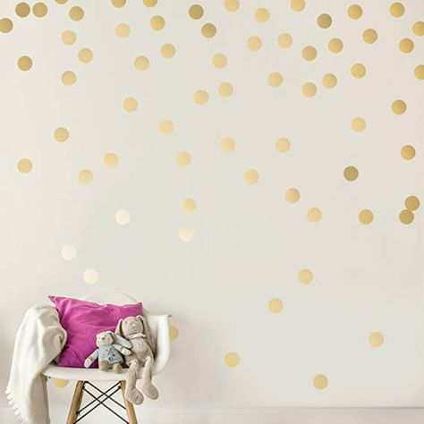 Polka Dot Wall Decals Breathing New Life To Interiors Gold