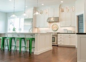 Ivory White Kitchen. Cream White Kitchen. Cream White Kitchen Cabinet Paint  Color Inspiration.
