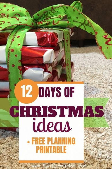 12 days of Christmas gifts ideas for family, friends, and teachers. Giving the 12 days of Christmas gifts with your kids can be the highlight of your holiday! Here are some fabulous ideas! #Christmas #ChristmasGifts #HolidayGifts #GiftGuide #HolidayGiftGuide #GiftIdeas