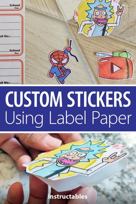 mondal3011 created custom stickers using label paper. #Instructables #papercraft #paper #gift