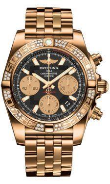 Breitling Chronomat 44 de acero y oro rosa de 40 Dia Bisel pulsera Piloto dos tonos