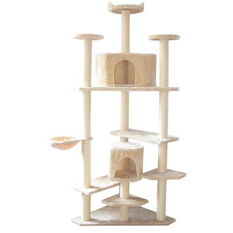 ecolinear 80 inch cat tree condo furniture scratching post cat rh pinterest ca