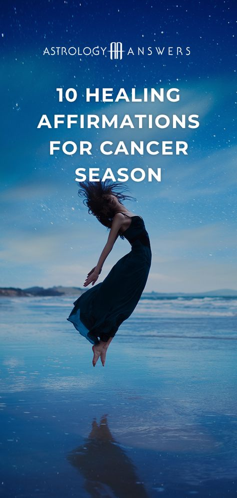 Working with positive affirmations that specifically connect to Cancer energy will help you make the most of Cancer season! #affirmations #cancerseason #astrology