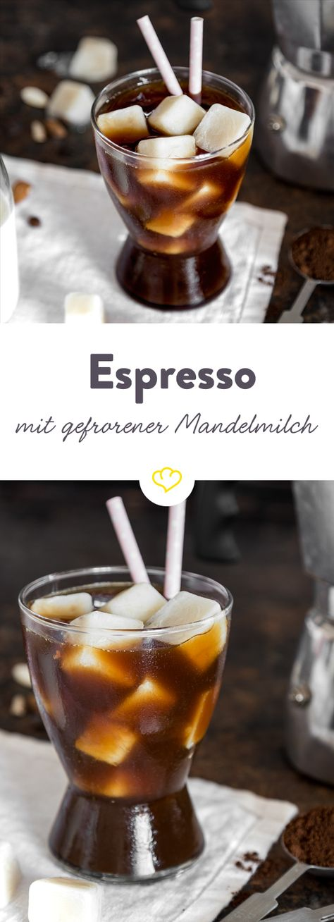 Hol dir den Urlaub zu dir nach Hause! Du brauchst nur 2 Zutaten: Espresso und Mandelmilch – Eiswürfel aus Mandelmilch um genau zu sein. Während die Eiswürfel in deinem heißen Espresso dahinschmelzen, darfst du dich über eine süß-trendige Kaffeepause freuen, die nach dem Süden Italiens schmeckt.