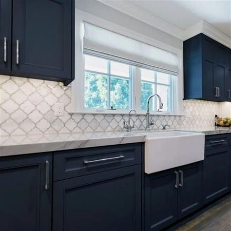 Nuvo Oxford Blue Cabinet Paint #KitchenCabinets
