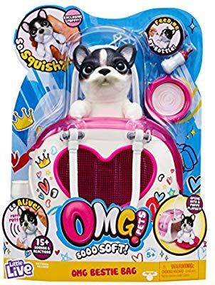 Amazon Com Omg Pets Soft Squishy Puppy That Comes To Life Interactive Soft Puppy Playset Toys Games With Images Little Live Pets Pets Playset