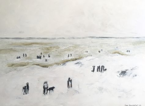 """Grotto Beach"" painting by karen bezuidenhout"
