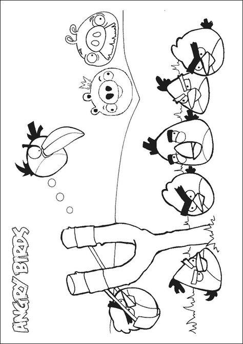 Desenho De Angry Birds Passaros Irritados Para Pintar Desenhos