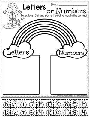 Activities Rainbow Preschool Worksheets - Number or Letter Sort.Rainbow Preschool Worksheets - Number or Letter Sort. Rainbow Activities, Preschool Learning Activities, Preschool Curriculum, Preschool Lessons, Preschool Kindergarten, Kids Learning, Educational Activities, Preschool Themes, Rainbow Crafts Preschool