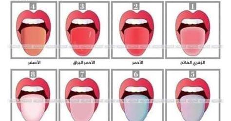 اللسان 8 الوان إذا لاحظت أن لسانك يتمي ز بهذا اللون فهذا يعني أن ك تتمتعين بصحة جيدة