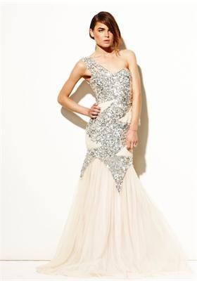 Sequin gown by Rachel Gilbert. #sequin #sparkly #dress
