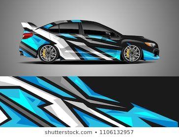 Car Decal Vector Graphic Abstract Racing Designs For Vehicle Sticker Vinyl Wrap Mobil Balap Stiker Kendaraan Desain Produk