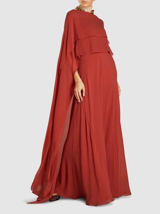 Cortana Alysa Cape Back Silk Dress Dresses Silk Dress Silk Midi Dress