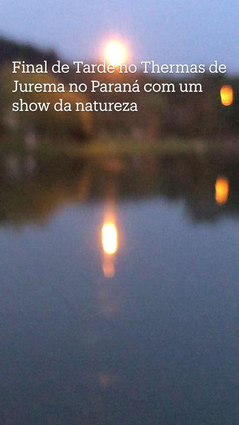Final de Tarde no Thermas de Jurema no Paraná com um show da natureza