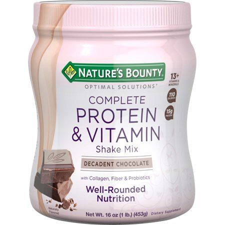 Nature S Bounty Complete Protein Powder Decadent Chocolate 15g Protein 1lb 16oz Walmart Com Chocolate Protein Shakes Best Protein Powder Vitamin Shakes