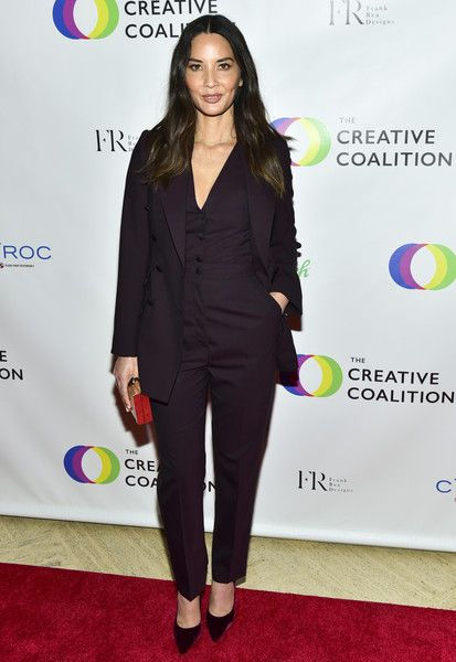 Olivia Munn attends the Creative Coalition 2018 Spotlight Initiative Gala Awards Dinner.