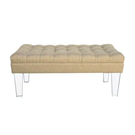 Swell Montecarlo Bench In Gold Master Bedroom Stool For The Foot Evergreenethics Interior Chair Design Evergreenethicsorg