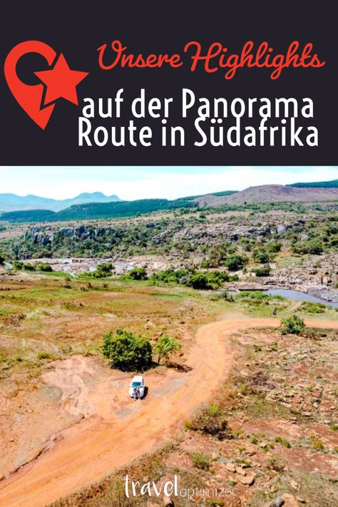 Blyde River Canyon Panorama Route In Sudafrika Karte