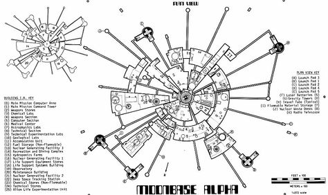 Space 1999 Moonbase Alpha space1999 moonbasealpha  Blueprints