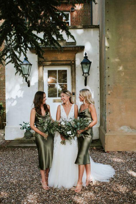 Olive Green Bridesmaid Dresses, Blue Bridesmaid Dresses Short, Wedding Bridesmaids, Wedding Attire, Bridesmaid Bouquets, Wedding Dress Bustle, Wedding Dresses, Tulle Wedding, Wedding Bells