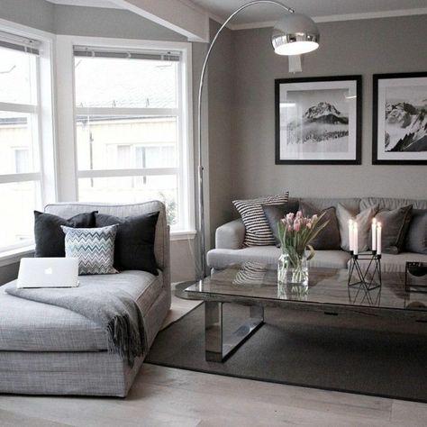 déco de salon en gris moderne | Home inspiration in 2019 ...