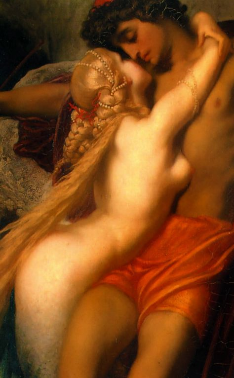 The Fisherman and the Syren (1856-1858) Sir Frederic Leighton (detail)